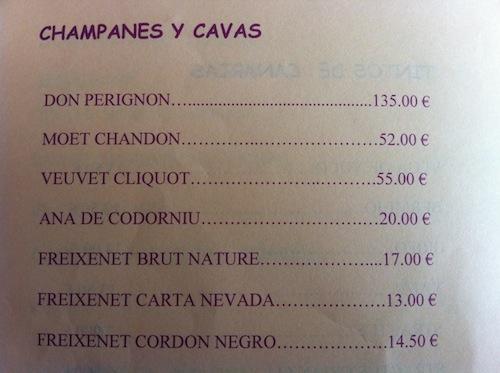 Cartas de vino