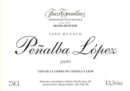 Vino blanco Peñalba-López