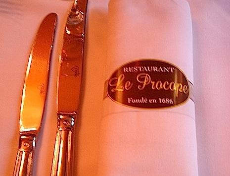 Restaurante Le Procope de París
