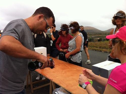 Un descanso para tomar un vino de Lanzarote