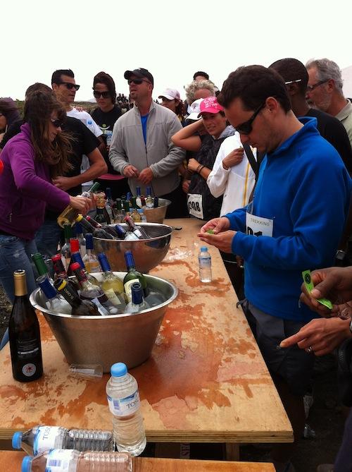 Avituallamiento con vino durante todo el recorrido