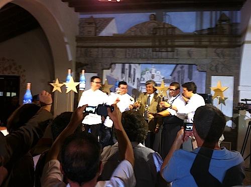 Los cocineros con el Presidente del Grupo Barbadillo, foto-por-cristina-alcala