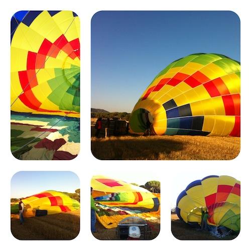 Imágenes del montaje del globo foto-por.cristina alcala