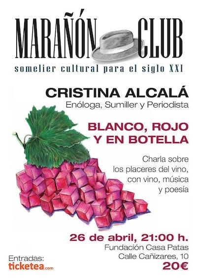 Portada de la revista editada por Marañón Club dedicada al vino
