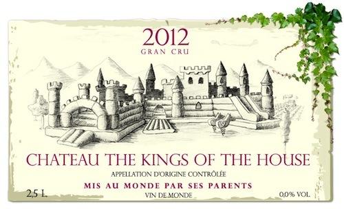 The Kings of the House, estética del vino para niños