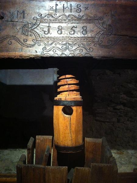 Prensa del Museo del Vino