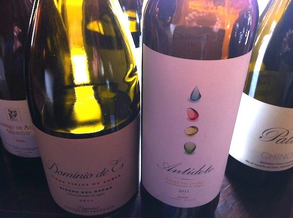 Algunos vinos de Bertrand Sourdais