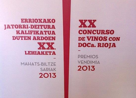 XX Premios Vendimia 2013