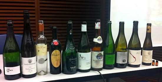 Algunos vinos de la cata de El Sommi