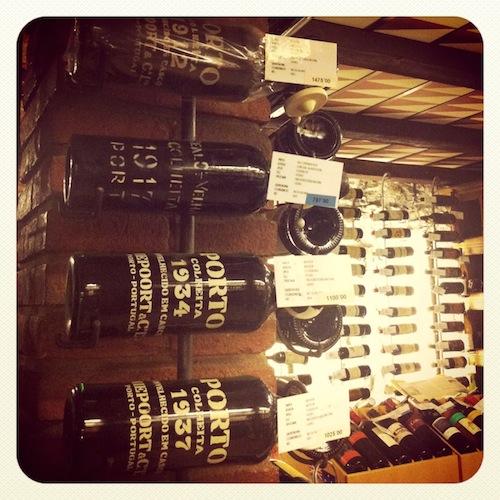 Gran colección de vinos de Oporto