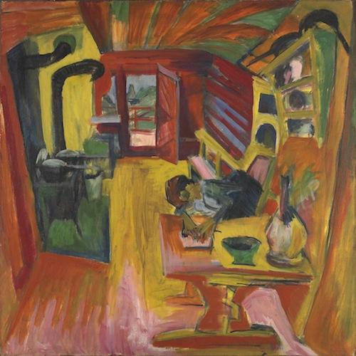 """Cocina alpina"" de Ernst Ludwig Kirchner"