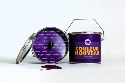 Marketing del vino en una lata de pintura