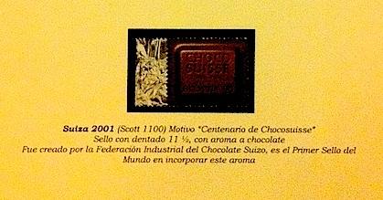 Sello suizo con olor a chocolate