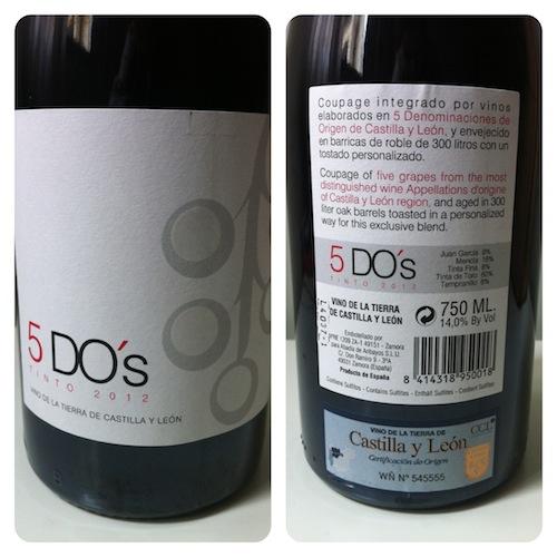 Imagen del vino 5 DO´s