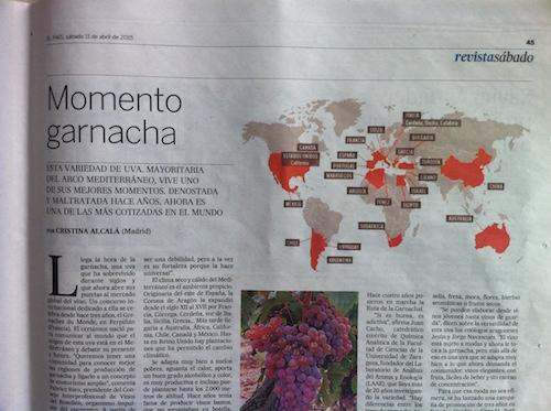 Uva garnacha en El País
