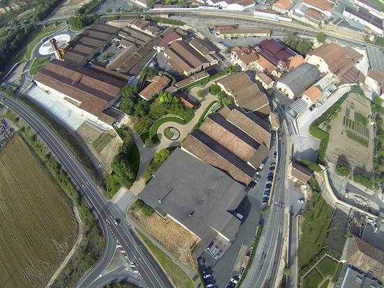 Vista aérea Barrio de la Estación de Haro (La Rioja)