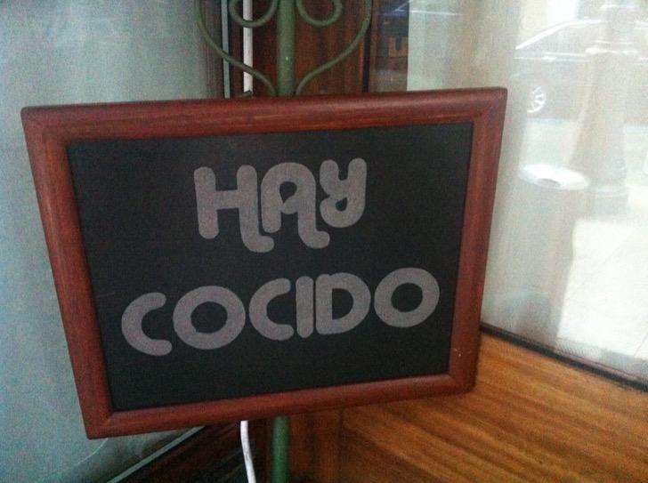 Cocido gallego, restaurante Cabanas,Lalín (Galicia)