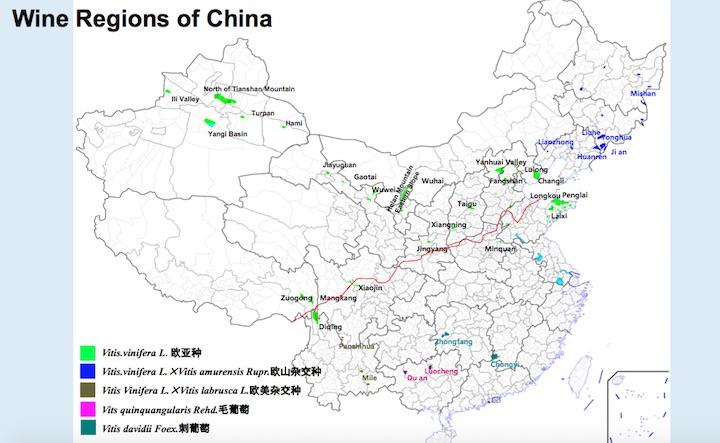 Regiones vitivinícolas en China